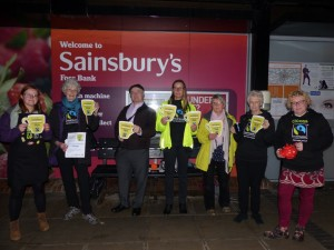 Members of the forum went to the York Foss Bank branch of Sainsbury's to ask them not to ditch Fairtrade.