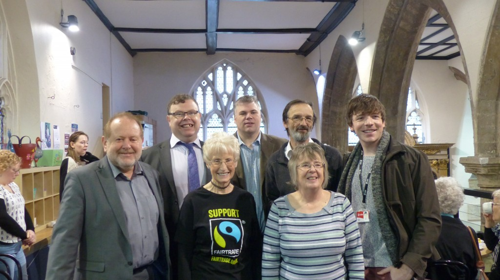 l-to-r: Cllrs Chris Cullwick, Andrew Waller, Chris Steward, Andy d'Agorne, Kallum Taylor; front l-to-r YFTF chair Kathryn Tissiman, Cllr Jenny Brooks